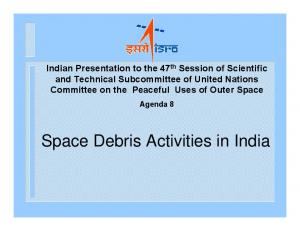 Space Debris Activities in India