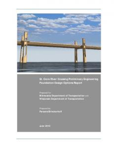 St. Croix River Crossing Preliminary Engineering Foundation Design Options Report