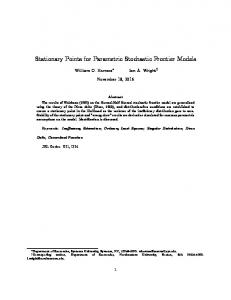 Stationary Points for Parametric Stochastic Frontier Models