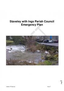 Staveley with Ings Parish Council Emergency Plan