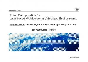 String Deduplication for Java-based Middleware in Virtualized Environments