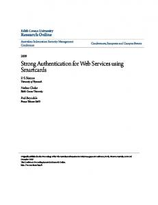 Strong Authentication for Web Services using Smartcards
