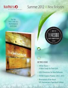 Summer 2012 : : New Releases