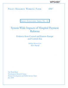 System-Wide Impacts of Hospital Payment Reforms