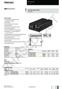 ta for 60,000 h For luminaires with 1 lamp