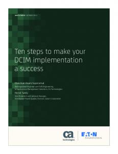 Ten steps to make your DCIM implementation a success