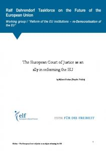 The European Court of Justice as an ally in reforming the EU
