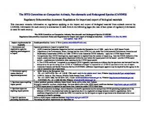 The IETS Committee on Companion Animals, Non-domestic and Endangered Species (CANDES)