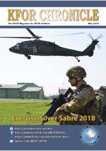 The KFOR Magazine for KFOR Soldiers May 2018