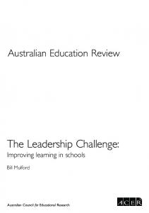 The Leadership Challenge: Improving learning in schools