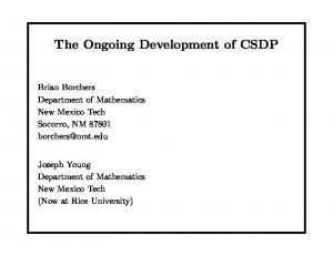 The Ongoing Development of CSDP