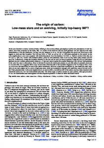 The origin of carbon: Low-mass stars and an evolving, initially top-heavy IMF? L. Mattsson