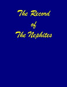 The Record of The Nephites