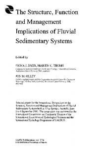 The Structure, Function and Management Implications of Fluvial Sedimentary Systems