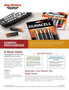 THERE ARE 2 LEADERS IN THE BATTERY SUB-CATEGORY DURACELL AND ENERGIZER