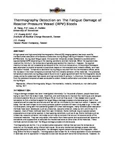 Thermography Detection on The Fatigue Damage of Reactor Pressure Vessel (RPV) Steels