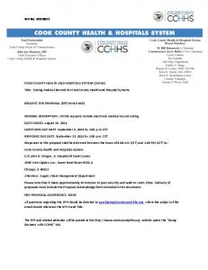Title: Coding Medical Records for Cook County Health and Hospital Systems