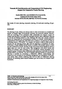 Towards 3D Geoinformatics and Computational Civil Engineering Support for Cooperative Tracks Planning