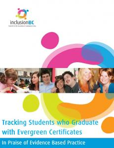 Tracking Students who Graduate with Evergreen Certificates