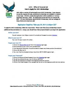 UHCL - Office of Financial Aid How to Apply for UHCL Scholarships