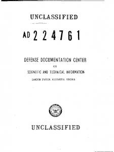 UNCLASSIFIED UNCLASSIFIED DEFENSE DOCUMENTATION CENTER. SCIENTIFiC AND TECHNICAL INFORMATION FOR CAMERON STATION. ALEXANDRIA