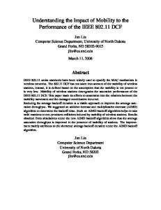 Understanding the Impact of Mobility to the Performance of the IEEE DCF