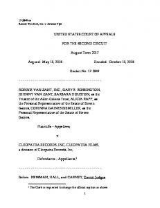 UNITED STATES COURT OF APPEALS FOR THE SECOND CIRCUIT. August Term Argued: May 10, 2018 Decided: October 10, Docket No