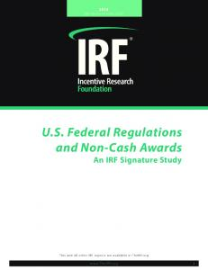 U.S. Federal Regulations and Non-Cash Awards