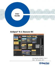 User Guide Eclipse 9.1 Dynam-EC