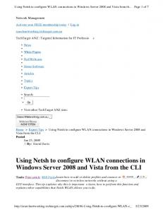 Using Netsh to configure WLAN connections in Windows Server 2008 and Vista from the CLI
