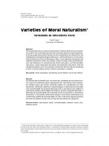 Varieties of Moral Naturalism 1