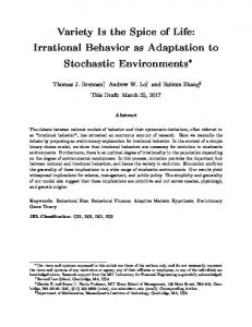 Variety Is the Spice of Life: Irrational Behavior as Adaptation to Stochastic Environments