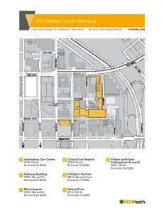 VCU Medical Center Directions
