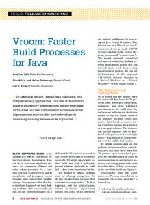 Vroom: Faster Build Processes for Java