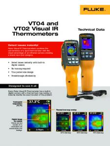 VT04 and VT02 Visual IR Thermometers