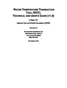 WATER TEMPERATURE TRANSACTION TOOL (W3T): TECHNICAL AND USER S GUIDE (V1.0)