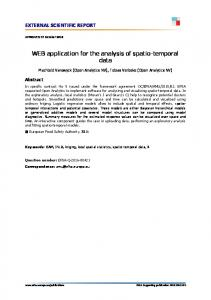 WEB application for the analysis of spatio-temporal data
