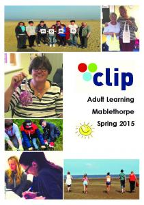 Welcome to CLIP s Spring Programme