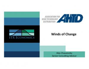Winds of Change. Alex Chausovsky Senior Consulting Advisor