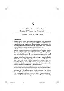 Youth and Conflicts in West Africa: Regional Threats and Potentials